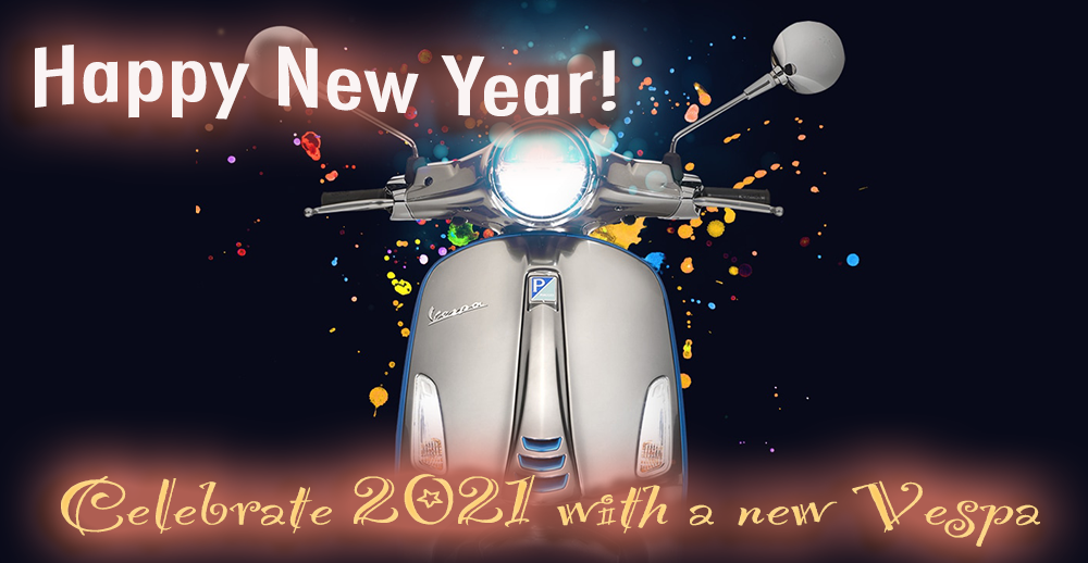 Happy New Year - Celebrate with a new Vespa in 2021